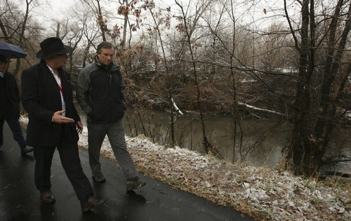 Tribune file photo Bobby Kennedy, right, son of the late Sen. Robert F. Kennedy, is chairman of the international Waterkeeper Alliance. He is shown here touring the Ogden River during a 2007 tour. Gadi Leshem, left, is an investor in the Ogden Riverfront Development Co.