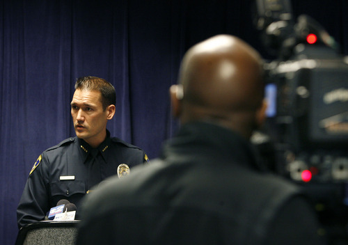 Scott Sommerdorf  |  The Salt Lake Tribune South Salt Lake police chief Chris Snyder speaks at a joint news conference with the Friends of Sherry Black organization to announce the latest developments in the Sherry Black homicide investigation, Monday, March 28, 2011.