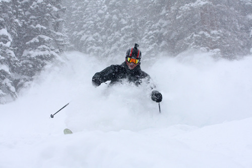 Utah ski resorts passed the 500-inch milestone for snowfall during the 2010-11 season over the weekend and there is more on the way. Snowbird in Little Cottonwood Canyon is slated to remain open through Memorial Day. Courtesy Tim Burdick | Snowbird Powdershots
