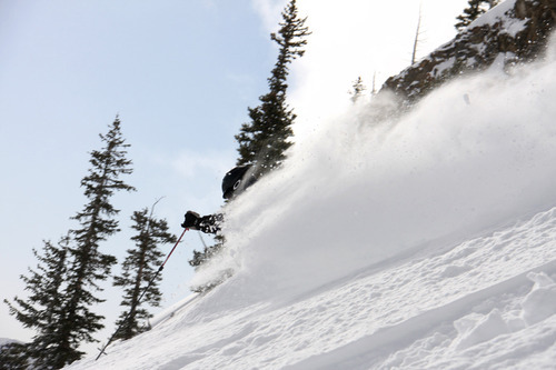 Utah ski resorts passed the 500-inch milestone for snowfall during the 2010-11 season over the weekend and there is more on the way. Snowbird in Little Cottonwood Canyon is slated to remain open through Memorial Day. Courtesy Gillian Hunter, Snowbird Powdershots
