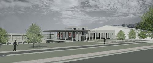 rendering courtesy University of Utah  This rendering shows the University of Utah's new Football Facility.