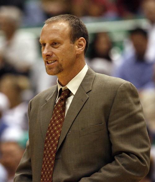 Bucks Coach Larry Krystkowiak.  Al Hartmann/Salt Lake Tribune  10/10/07