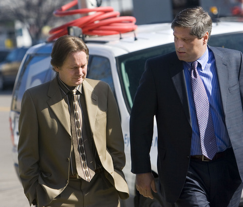 Al Hartmann   |  The Salt Lake Tribune  Keith Brown, left, father of the 5 Browns, enters court Thursday with his attorney, Steve Shapiro, for sentencing. A judge sentenced Brown to serve 10 years to life in prison for sexually abusing his daughters when they were children.