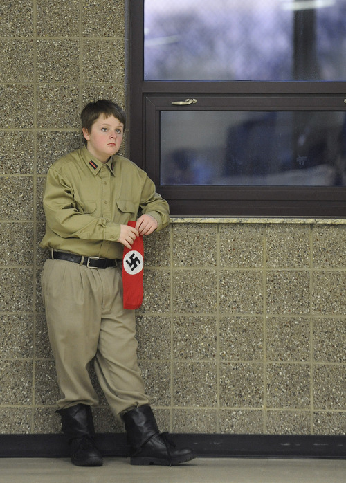 Sarah A. Miller  |  The Salt Lake Tribune  Jack Jerman, 12, waits for the vocal warmup to begin before the performance of