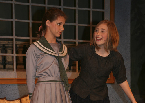 Nell Stevens and Abi Busath in Clayton Middle Schools production of The Sound of Music. Courtesy Kris Barta