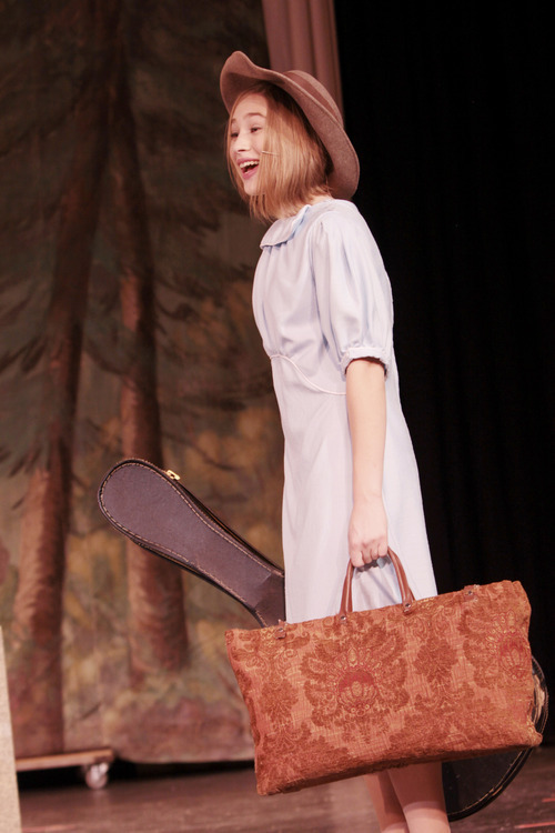 Abi Busath as Maria in Clayton Middle School's production of