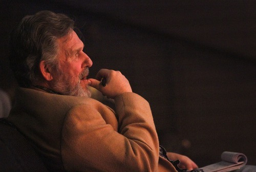 Rick Egan      The Salt Lake Tribune Director Peder Melhuse during a rehearsal of the University of Utah's Babcock Theatre production of