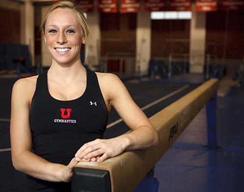 Trent Nelson  |  The Salt Lake Tribune University of Utah gymnast Jacquelyn Johnson, in Salt Lake City, Utah, Thursday, April 7, 2011.