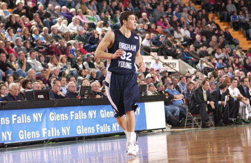 Andy Camp for The Tribune  BYU basketball against Vermont in Glens Falls, New York, Jimmer Fredettes hometown.