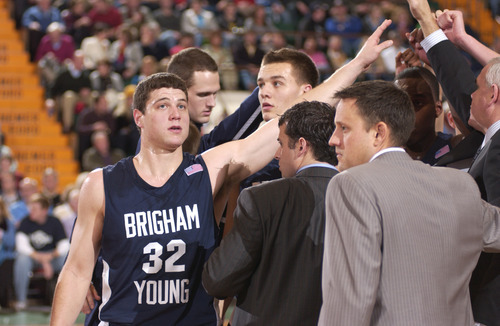 BYU basketball against Vermont in Glens Falls, N.Y., Jimmer Fredette's hometown. Andy Camp for The Tribune