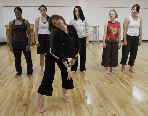 Rick Egan   |  The Salt Lake Tribune  L-R Ursula Perry, Laja Field, Sofia Gorder, Mallory Rosehthal, Rachael Shaw, and Belle Baggs, dancers from  inFluxdance practice for  Monday, April 11, 2011. Sofia Gorder and her friend Juan Aldape are putting together a performing arts concert, titled