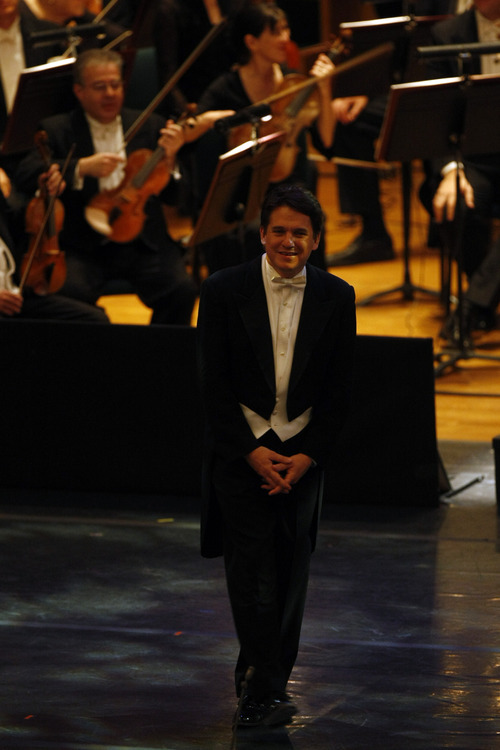 Keith Lockhart walks on stage before conducting the Utah Symphony during a performance of Leonard Bernstein's 'Mass' at Abravanel Hall May 29, 2009. This was his second to last concert conducting the Symphony.  Chris Detrick/The Salt Lake Tribune