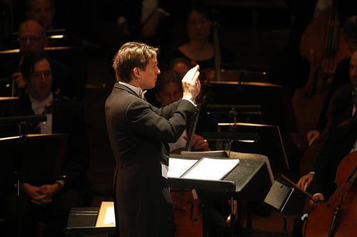 Chris Detrick/The Salt Lake Tribune Keith Lockhart conducts the Utah Symphony during a performance of Leonard Bernstein's 'Mass' at Abravanel Hall. Friday's performance was Lockhart's second to last concert conducting the symphony.