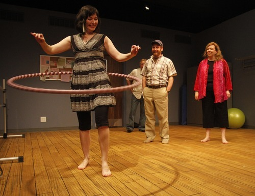Rick Egan   |  The Salt Lake Tribune  (L-R) Andra Harbold, Morgan Lund,  Michael Todd Behrens and Colleen Baum, in Salt Lake Acting Company's