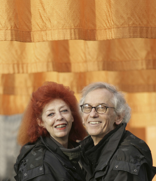 Environmental artist Christo, who with his wife Jeanne-Claude, created