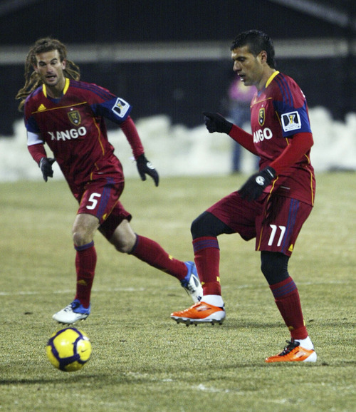 Salt Lake Tribune file photo  Real Salt Lake's Javier Morales, right, passes the ball to teammate Kyle Beckerman.