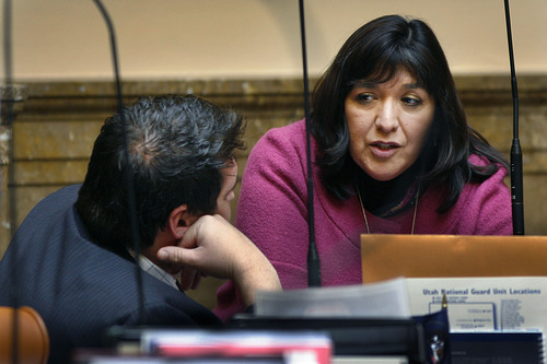 Rep. Rebecca Chavez-Houck, D-Salt Lake City, is the most liberal of Utah's 104 lawmakers, according to a compilation of rankings by conservative and liberal groups. Scott Sommerdorf  |  Tribune File Photo