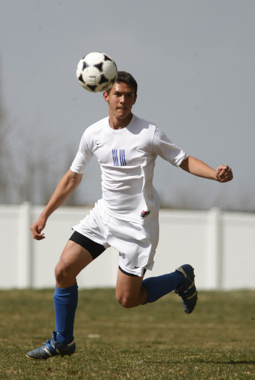Rick Egan   |  The Salt Lake Tribune Hathan Salas-Manful, 11, kicks the ball for Salt Lake Lutheran, in the final game of the season. Salt Lake Lutheran soccer has only 10 players on their roster and did not won a game this season.