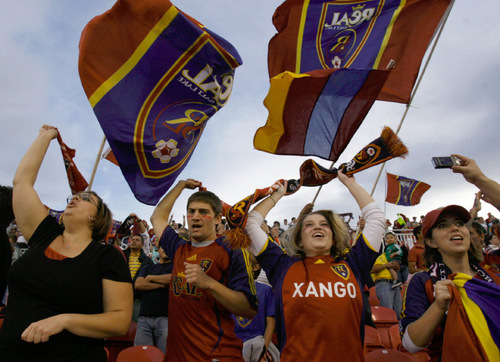 RSL fans exult throughout Sandy's Rio Tinto Stadium following Yura Movsisyan's late goal.