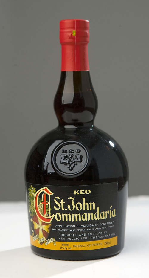 Al Hartmann   |  The Salt Lake Tribune  St. John Commandaria is a wine used in religious services.  Orthodox churches have the Utah Department of Alcoholic Beverage Control get this wine from Cyprus.