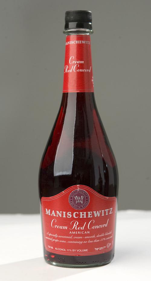 Al Hartmann   |  The Salt Lake Tribune  Manischewitz Cream Red Concord Wine is used in religious services.
