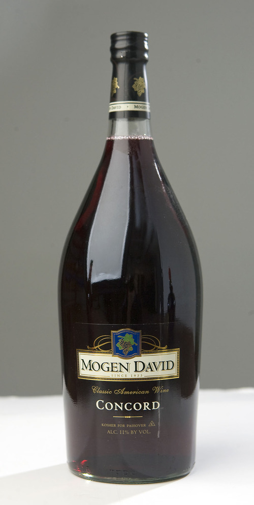 Al Hartmann   |  The Salt Lake Tribune  Mogen David Concord Wine is a wine used in religious services.