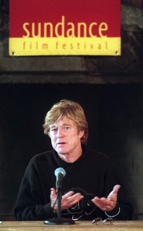 Robert Redford chats with reporters at a past Sundance Film Festival screening. Tribune file photo