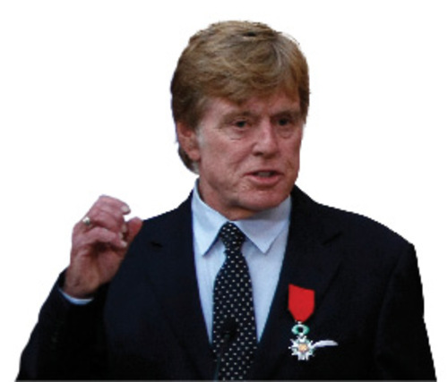 Robert Redford, left, delivers his speech after being awarded the Knight of the Legion of Honor, from France's President Nicolas Sarkozy, right, during a ceremony at the Elysee Palace in Paris, Thursday Oct. 14, 2010. (AP Photo/Francois Mori, Pool)