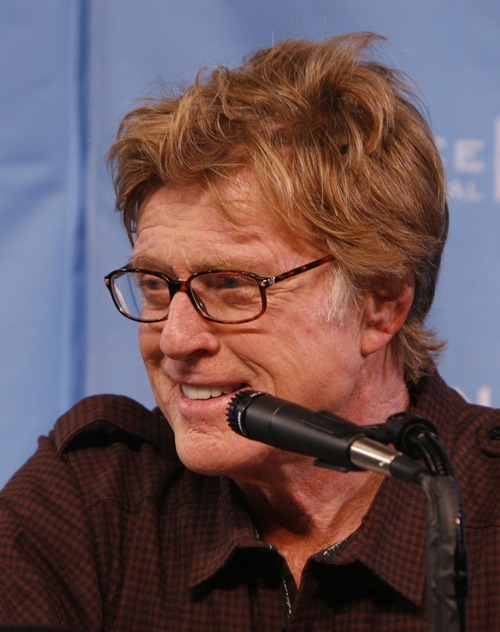 Robert Redford answers questions at a press conference at the Egyptian Theatre, in Park City, for the opening of the 2009 Sundance Film Festival. Tribune file photo