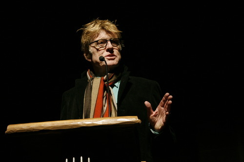 Rick Egan   |  The Salt Lake Tribune  Robert Redford welcomes filmmakers and film-goers at the premiere of