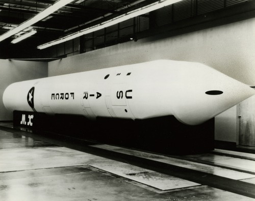 MX missile. 1980 Tribune file photo.