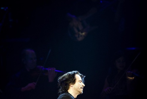 Djamila Grossman  |  The Salt Lake Tribune  Yanni performs at the Maverik Center in West Valley City on Saturday.