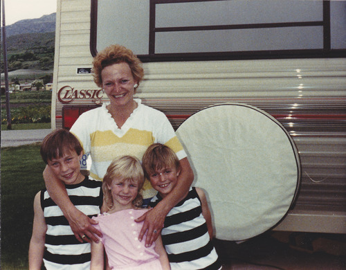 Courtesy photo A young Debra Brown with her children.