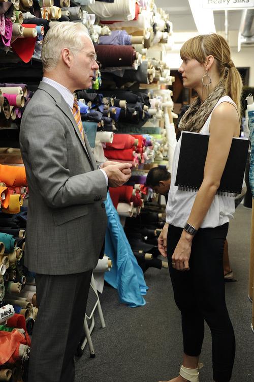 Tim Gunn talks with Gretchen Jones in an episode of