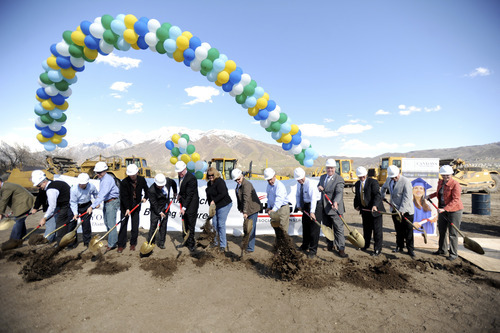 Canyons District broke ground on its new high school, at 12887 S. 801East, last week. The 311,000-square-foot building is expected to be done in time for the 2013-2014 school year. Photos courtesy of Stephen Speckman.