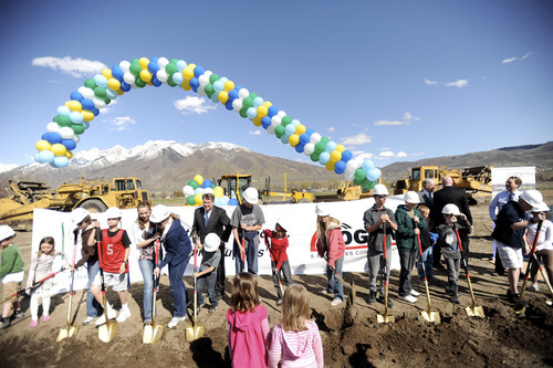 Courtesy of Stephen Speckman Canyons District breaks ground on its new high school, at 12887 S. 801East. The 311,000-square-foot building is expected to be finished in time for the 2013-2014 school year.