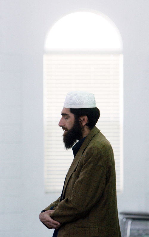 Francisco Kjolseth     The Salt Lake Tribune Imam Muhammed S. Mehtar of the Islamic Society of Great Salt Lake in West Valley City leads prayers on Monday, May 2, 2011, the day after the announcement of Osama bin Laden's death.