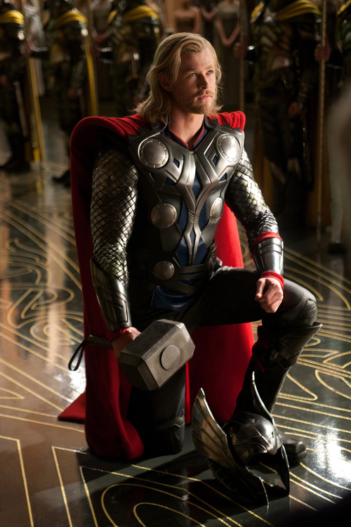 In this film publicity image released by Paramount Pictures, Chris Hemsworth portrays the title character in a scene from the film,