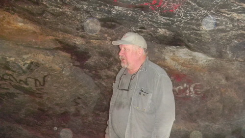 Tom Wharton | The Salt Lake Tribune State archaelogist Kevin Jones talks about the history of Danger and Juke Box Caves near Wendover.