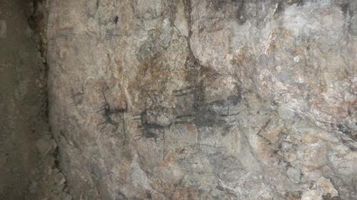 Tom Wharton | The Salt Lake Tribune Rock art inside Juke Box Cave near Wendover.