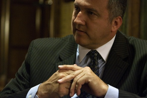 DJAMILA GROSSMAN  |  The Salt Lake Tribune Arizona Sen. Rich Crandall, R-Mesa, talks about immigration during an interview at the state Capitol in Phoenix. Crandall helped defeat a package of anti-illegal immigration bills this year and some say he will be an election target because of it.
