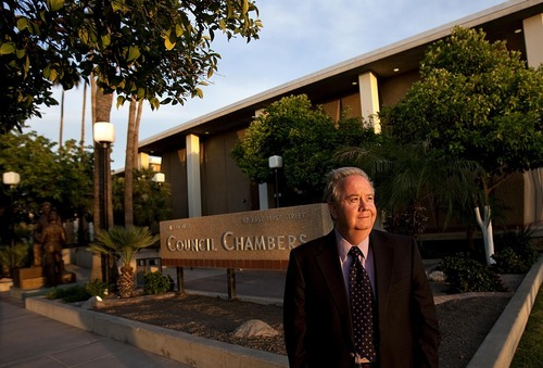 DJAMILA GROSSMAN  |  The Salt Lake Tribune Mesa City Councilman Dennis Kavanaugh hopes the Council in the next few weeks will get the chance to adopt an Arizona-version of the Utah Compact set of principles on immigration reform. Kavanaugh is shown here outside the Council offices.