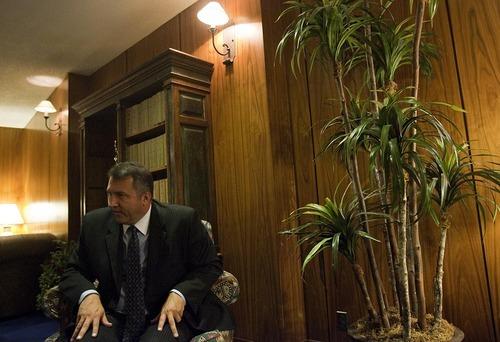 DJAMILA GROSSMAN  |  The Salt Lake Tribune Arizona Sen. Rich Crandall, R-Mesa, talks about his stand against anti-illegal immigration bills during the recent Arizona legislative session. He says a proposed ban of undocumented kids from school make no sense.