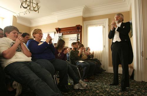 Leah Hogsten  |  The Salt Lake Tribune Richard Hatch entertains the audience during the