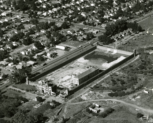 The Sugar House Prison once sat on the land now occupied by Sugar House Park and Highland High School. Tribune file photo