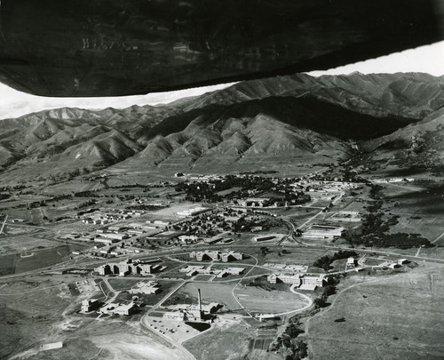 The VA Hospital and Fort Douglas are seen in this photo from the 1960s. Of particular interest is the