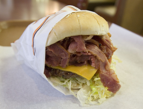 The Crown Burger at Crown Burger in Salt Lake City. Tribune file photo
