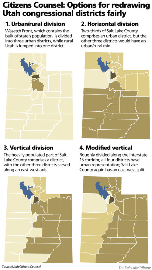 Citizens Counsel: Options for redrawing Utah congressional districts fairly