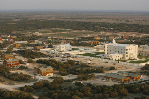 Trent Nelson  |  Tribune file photo Aerial views of the FLDS compound YFZ