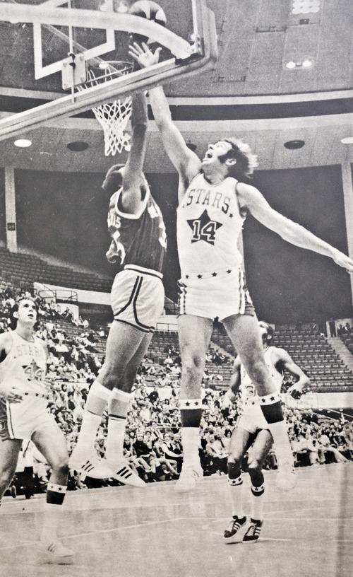Photo provided by Mr. Mac Utah Stars forward Roderick McDonald during an ABA basketball game.